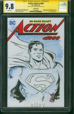 Superman Action Comics 1000 CGC SS 9.8 Mike Norton original art sketch
