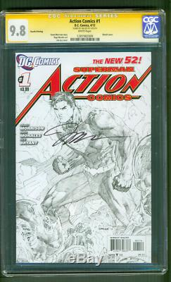 Superman Action Comics 1 CGC SS 9.8 Jim Lee Signed 4th Print Sketch Variant 2012
