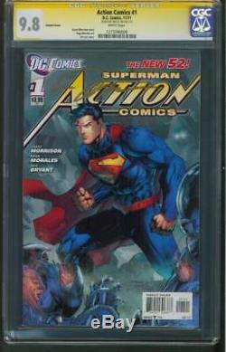 Superman Action Comics 1 CGC SS 9.8 Jim Lee Signed Variant 2011
