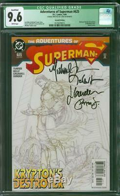 Superman Action Comics 812 CGC 9.6 4X Signed Michael Turner Sketch Variant
