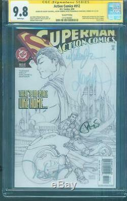 Superman Action Comics 812 CGC SS 4X Signed 9.8 Michael Turner Sketch Variant