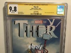 THOR comic # 1 2014 1st App Jane Foster as THOR Signed SKOTTIE YOUNG CGC 9.8