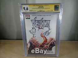 Venom #3, Signature Series, 1st Print, Donny Cates Signed And Sketch, Cgc Grade 9.6
