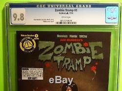 ZOMBIE TRAMP # 1 CGC 9.8 Action Lab Comics! Mendoza! TMChu! Janey Belle 56