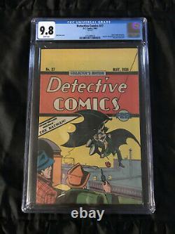 1938 Action Comics #1 & 1937 Detective Comics #27 Cgc 9,8 Perfect Réimpressions