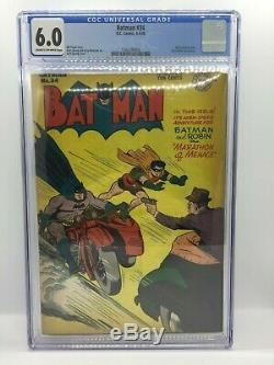 1947 Batman N ° 34 DC Comic Cgc 6.0 Détective Golden Age Action De Dick Sprang 1