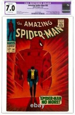 1967 Spider-man Incroyable #50 Marvel Comics Cgc 7.0 Fn/vf Légère (b-1) Restauré