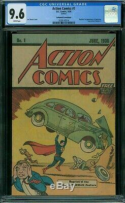1 Action Comics Cgc 9.6 Pages Blanches 1976 Safeguard Reprint