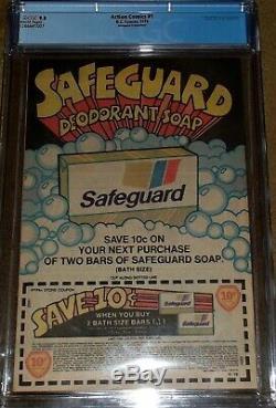 1 Action Comics Reprint 1978 Safeguard White Pages Cgc 9.8 Surhomme Question Clé