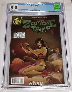 2014 Zombie Tramp 1 Cgc 9.8 Action Lab Comics Dan Mendoza Tmchu Couverture