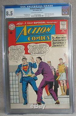 Action Bandes Dessinées 297 Mon-el Supergirl Premier App Complet Général Zod 1963 Cgc Vf + 8.5