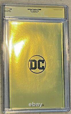Action Comics #1000 (2018) Cgc 9.8 Boutique Gold Foil Signé Jim Lee X6 Superman