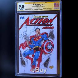 Action Comics # 1000 Blanc 1 D'un Genre Sketch Cgc Ss 9.8 Superman Castrillo