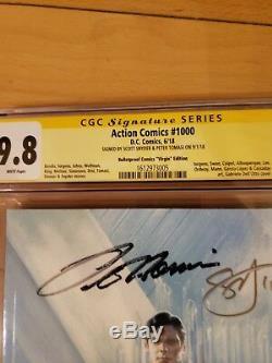 Action Comics 1000 Cgc 9.8 2x Ss Snyder & Peter Virgin Variant Bulletproof1 / 50