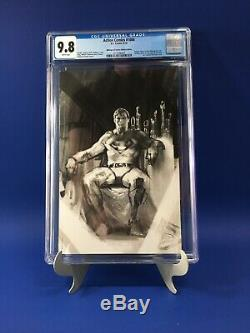 Action Comics # 1000 Cgc 9.8 Bulletproof Sketch Dell'otto Virgin DC Superman