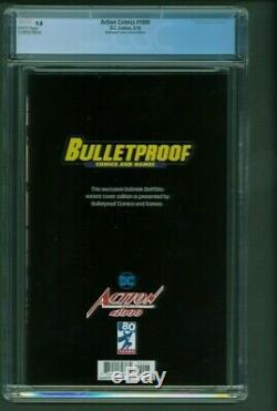 Action Comics # 1000 Cgc 9.8 Édition Esquisse Bulletproof Comics Dell'otto Virgin