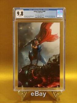 Action Comics # 1000 Cgc 9.8 Frankies Comics Édition Mattina Virgin Variant Cover