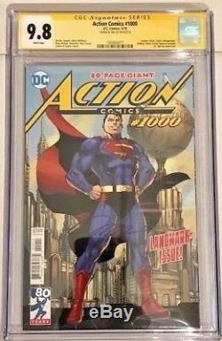 Action Comics # 1000 Cgc 9,8 Jim Lee Signé Variant 2018 DC Comics