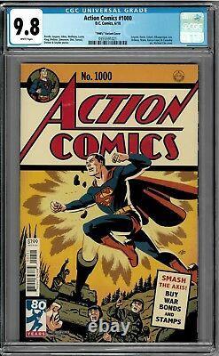 Action Comics #1000 Cgc 9,8 Nm 1940's Variant Par Micheal Cho