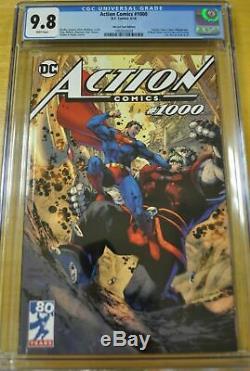 Action Comics # 1000 Cgc 9.8 Nm / H Jim Lee Variante De La Tournée 1ère Rogol Zaar DC Comics