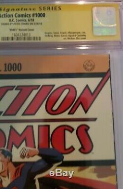 Action Comics # 1000 Cgc 9.8 Ss Peter Tomasi Années 1940 Variant Cover DC Superman
