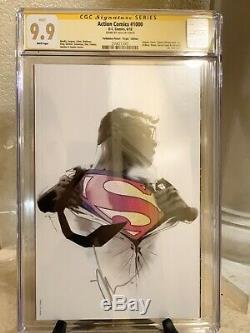 Action Comics 1000 Cgc 9.9 Jock Signé Vierge Couverture Planète Interdite Htf