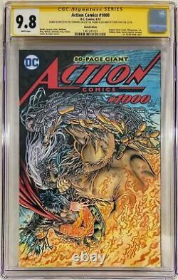 Action Comics #1000 Cgc Classé 9.8 Jeff Edwards Sketch Couleurs Lyriques DC Comics