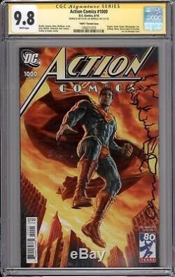 Action Comics # 1000 Cgc Ss 9.8 (remarqué Et Signé Par Lee Bermejo) Option 3