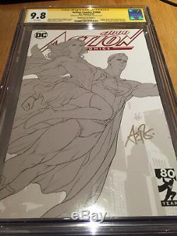 Action Comics # 1000. Dessin Au Trait / Croquis Artgerm Cgc Ss 9.8. Seulement 21 Sur Le Recensement