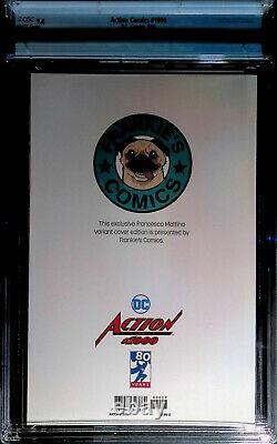 Action Comics #1000 Frankie's Comics Edition Mattina Virgin Cover Cgc 9,8