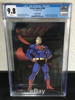 Action Comics 1000 Jim Lee Sdcc Convention Foil Édition! 9.8 Cgc! Htf Nm