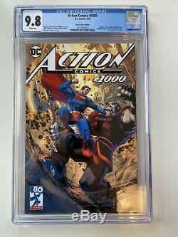 Action Comics # 1000 Jim Lee Tour Edition Variant 9.8 Cgc 1er Rogol Zaar