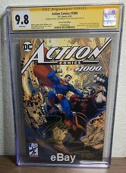 Action Comics # 1000 Jim Lee Variant Cgc 9.8 Signé Par Lee, Sinclair, & Williams