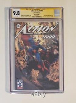 Action Comics # 1000 Jim Lee Visite Variant Cgc 9.8 Signé Par Jim Lee