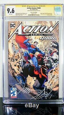 Action Comics # 1000 Jim Lee Visite Variant Cgc Ss 9.6 Croquis Original Superman