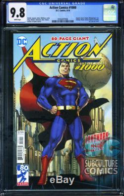 Action Comics # 1000 Première Impression DC Comics Cgc 9.8 Épuisé 80e Ann