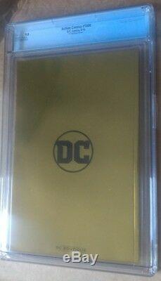Action Comics # 1000 Superman Bermejo Convention Feuille D'or Variant Cgc 9.8 Mint