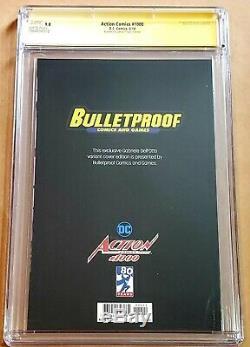 Action Comics # 1000 Superman Bulletproof Virgin Cgc Ss 9.8 Signé Par Dell Otto