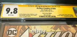 Action Comics # 1000 - Tour Edition Variant - Cgc Ss 9.8 - Signé Par Jim Lee