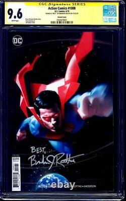 Action Comics #1008 Variante Cgc Ss 9.6 Signé Brandon Routh Superman Returns Kc