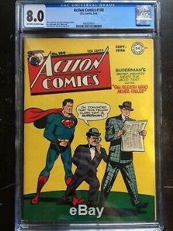 Action Comics # 100 Cgc Vf 8,0 Ow-w Wayne Boring Cvr! En Haute Qualité Scarce