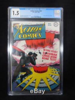 Action Comics # 101 Cgc 1.5 Explosion Atomique Couverture Et Panneaux