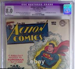 Action Comics #102 Cgc 8.0 Superman 1946 M. Mxyzptlk Couverture / Histoire