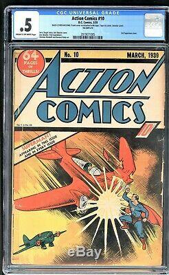 Action Comics 10 Cgc 0.5 DC 1939 3ème Couverture De Superman Scarce Fresh To Market