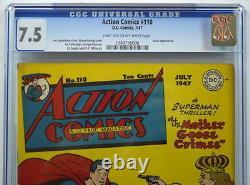 Action Comics #110 Cgc 7.5 Superman 1947 Susie Apparition