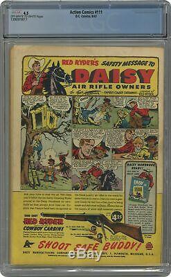 Action Comics # 111 Cgc 4.5 1947 1396970017