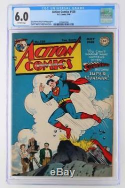 Action Comics # 120 Cgc 6.0 Fn DC 1948 Superman