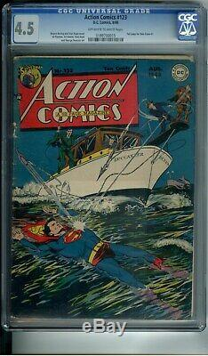 Action Comics # 123 Cgc 4.5 1st Time Flies Superman