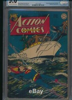 Action Comics # 123 Cgc 5.0 (d. C. Comics) 1948 Atom Âge Superman