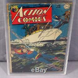 Action Comics # 123 (golden Age, La Première Fois Que Superman Vole) Pgx 1.8 DC 1948 Cgc
